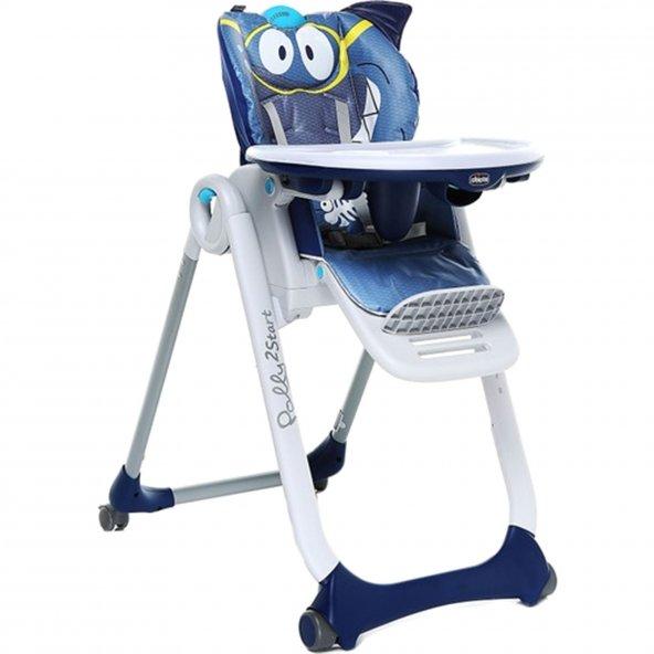 Chicco Polly 2 Start 4 Tekerlekli Mama Sandalyesi Köpek Balığı