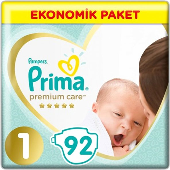 Prima Premium Care No:1 Bebek Bezi Yenidogan Eko Paket 92 Adet