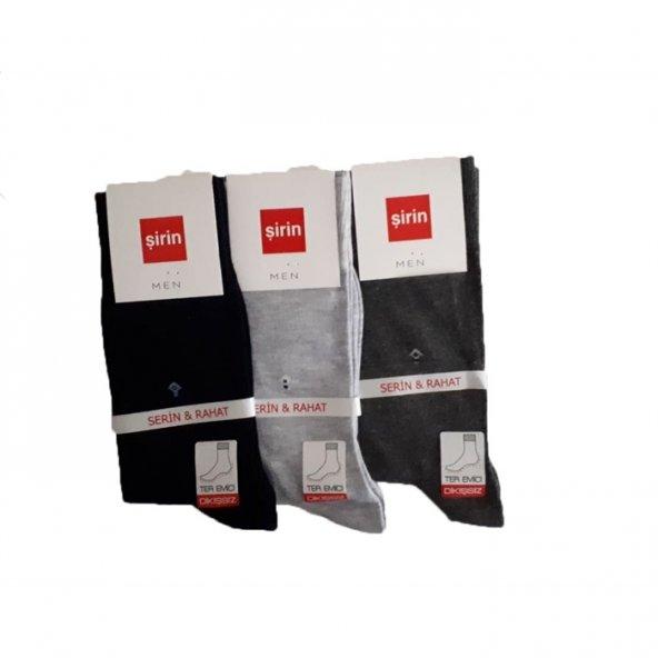 Şirin Merserize Yazlık Erkek Çorap Asorti 3li Paket