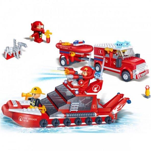 Banbao 392 Parça İtfaiye Seti Eğitici Puzzle Oyuncak Serisi Yangın Söndürme Ekibi Aktivite Lego