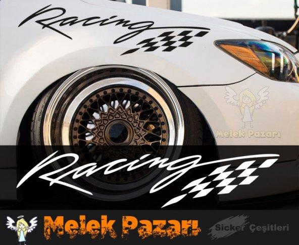 Racing Bayrak Oto Sticker