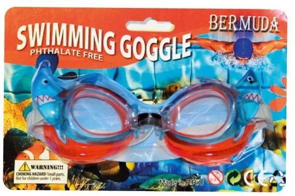 Çocuk Yüzücü Gözlüğü Yengeç & balık Desenli - A202