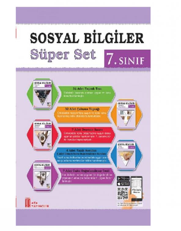 Ata 7.Sınıf Sosyal Bilgiler Süper Set 2019-2020