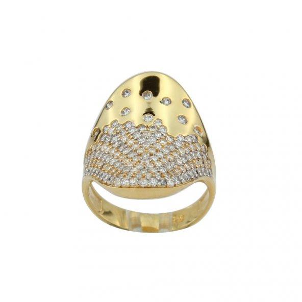 Özel tasarım gümüş bayan yüzüğü