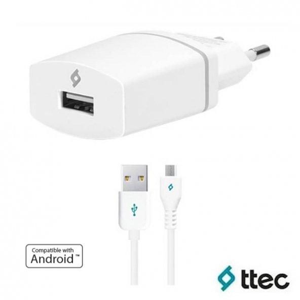 Ttec Compact Android İçin USB Seyahat Şarj Cihazı - Beyaz 2SCC752