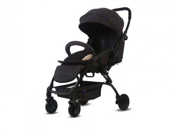 Babyhope BH-3075 Lavida Çift Yönlü Bebek Arabası Füme