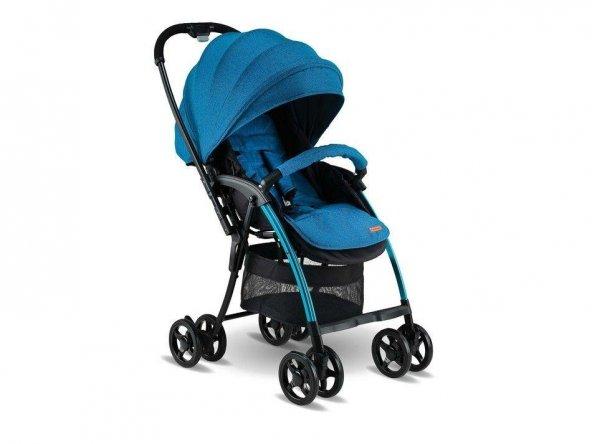 Babyhope BH-3100 Viva Çift Yönlü Bebek Arabası Mavi