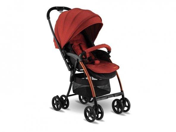 Babyhope BH-3100 Viva Çift Yönlü Bebek Arabası Kırmızı