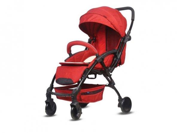 Babyhope BH-3075 Lavida Çift Yönlü Bebek Arabası Kırmızı
