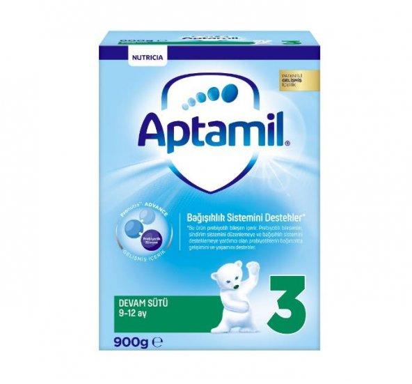 Aptamil Pronutra 3 Devam Sütü 9-12 Ay 900 gr Yeni Kutu Skt: 07/2020