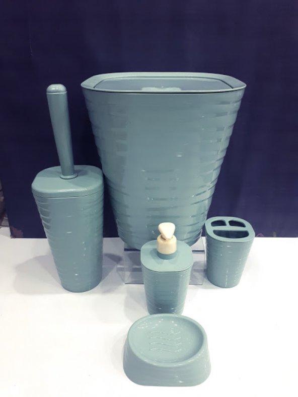 Akrilik Plastik 5 Parça Banyo Seti