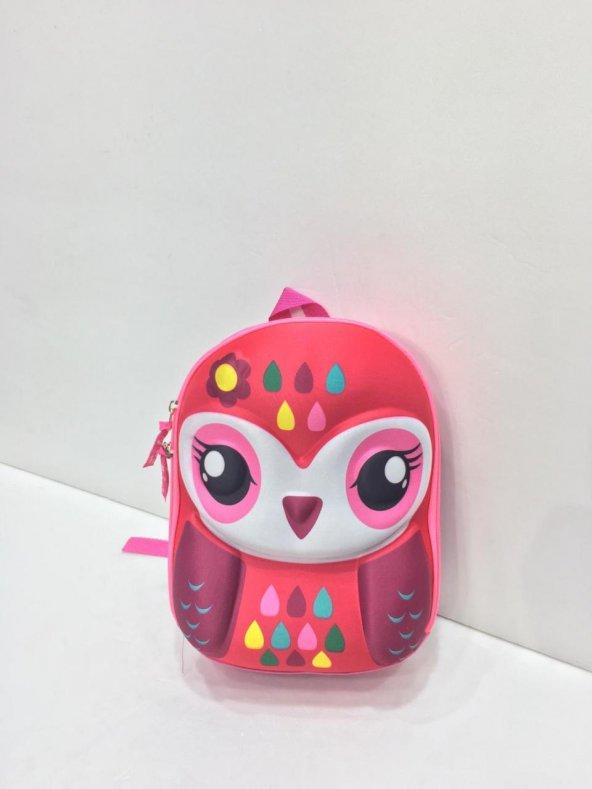 Haeja | Tatlı Baykuş Çok Renkli  Kız Çocuk Sırt Çantası