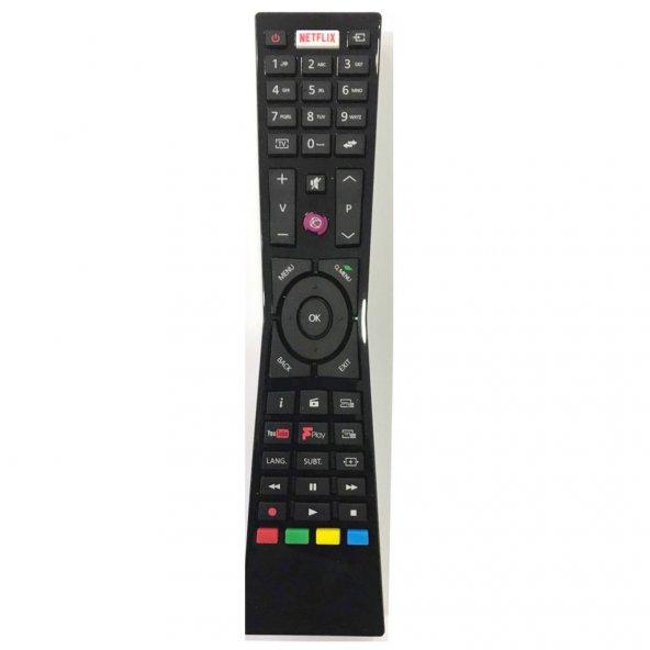 "VESTEL 4K SMART 40UB9400 40"" LED TV kumandası netflix tuşlu"