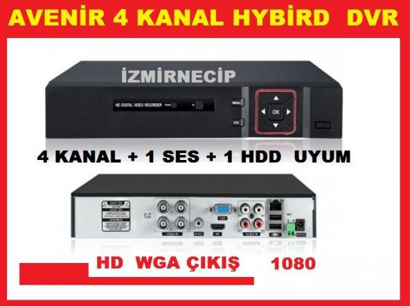 AVENİR Hybrid AHD VE ANALOG DVR KAMERA Kayıt Cihazı 4 KANAL HD