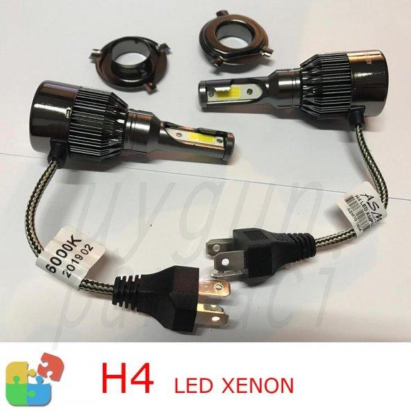 H4 Led Xenon Beyaz Renk ASM Marka-A Kalite (Garantili)