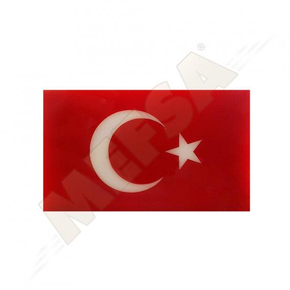 MEFSA PLEKSİ TÜRK BAYRAK YAPIŞTIRMA PANJUR ARMASI