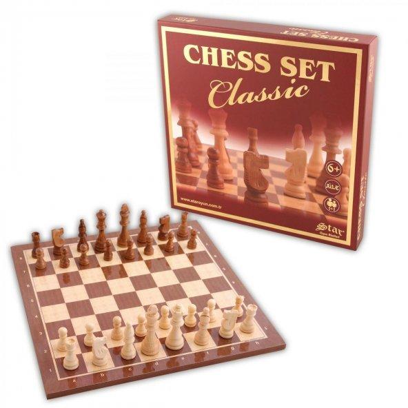 Chess Set Classic Büyük Star Oyun
