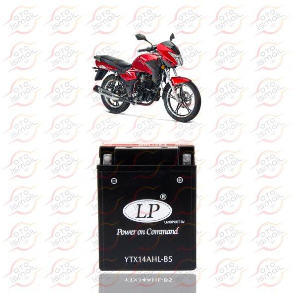YTX14AHL-BS LP 12V 12 AMPER MOTOSİKLET AKÜSÜ