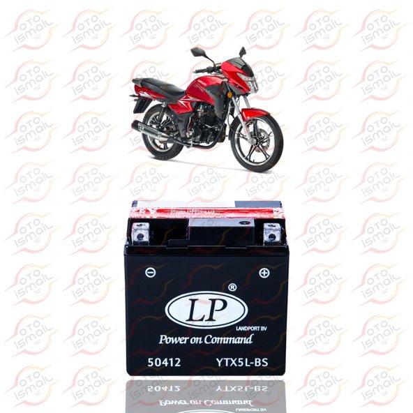 YTX5L-BS LP 12V 4 AMPER MOTOSİKLET AKÜSÜ
