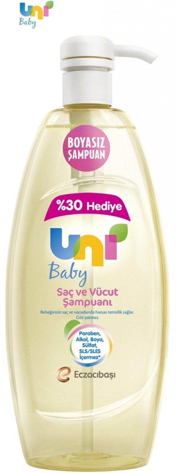 Uni Baby Şampuan 900Ml Boyasız Pompalı Bebekler İçin