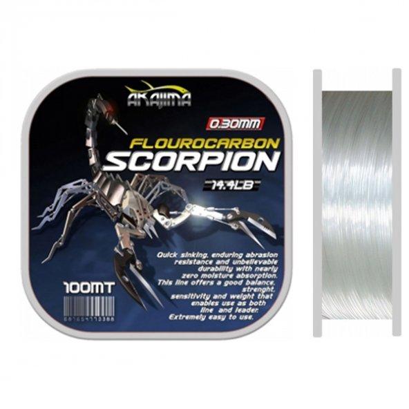 Akajima Scorpion Fluorocarbon Misina 100 mt 0.45 mm