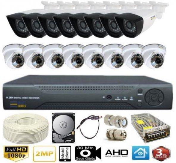Ennetcam 16 Kameralı AHD Süper Set