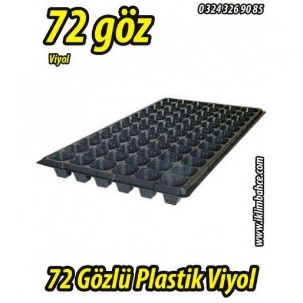 72 Gözlü Plastik Kare Tohum Fide Viyolü x 5 Adet
