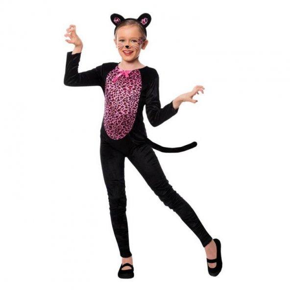 Kedi Kız Kostümü (7-9 Yaş)