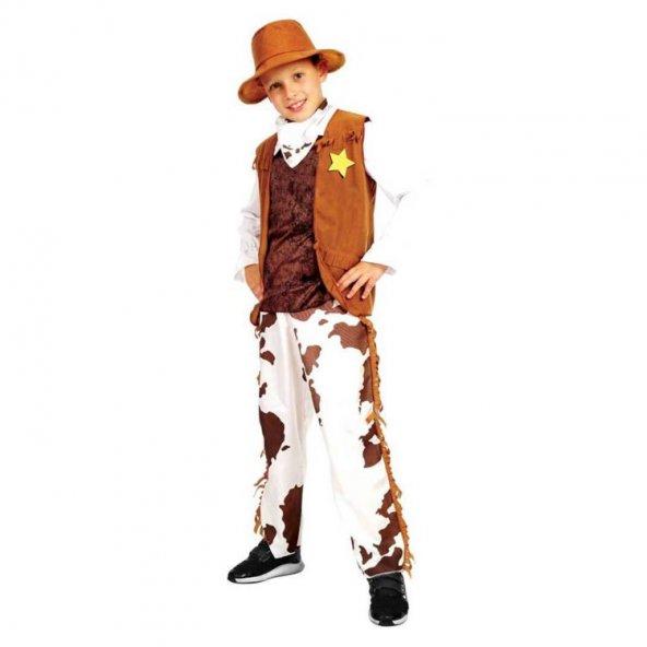 Erkek Kovboy Kostümü (4-6 Yaş)