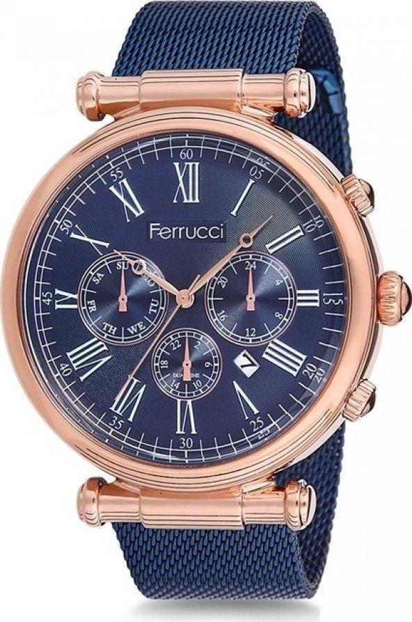 Ferrucci  Erkek Kol Saati Hasır Kordon Moda Çelik Erkek Kol Saati