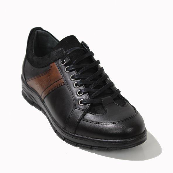 Berenni Erkek Günlük , Rahat, Ortapedik Mevsimlik Hakiki Deri Siyah Ayakkabi