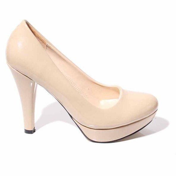 KADIN Platform Ortapedik Rahat Şık Vizon Kahve Ayakkabı