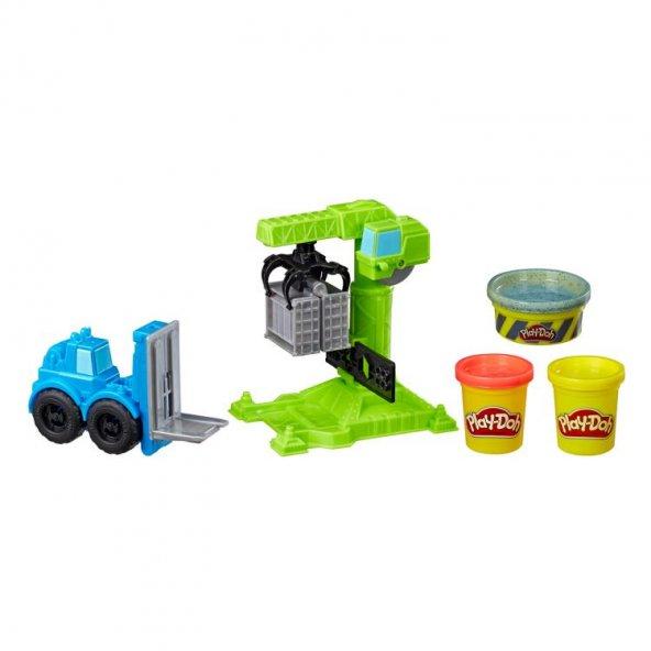 Play-Doh Çalışkan Vinç ve Forklift