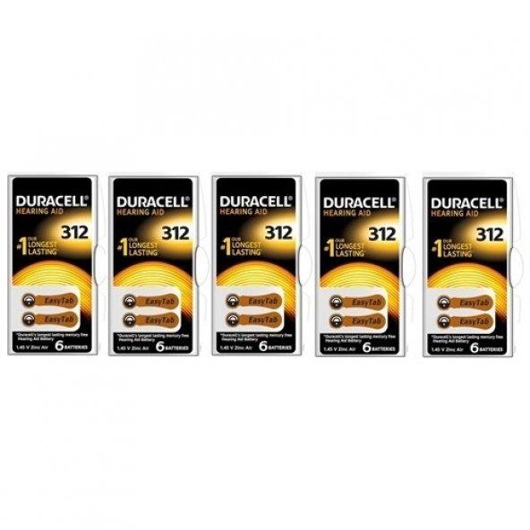 Duracell ACTIVAIR 312 Kulaklık Pili 5li Paket (30 adet)