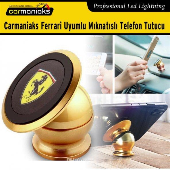 Carmaniaks Ferrari Uyumlu Mıknatıslı Gold Telefon Tutucu CRM5019