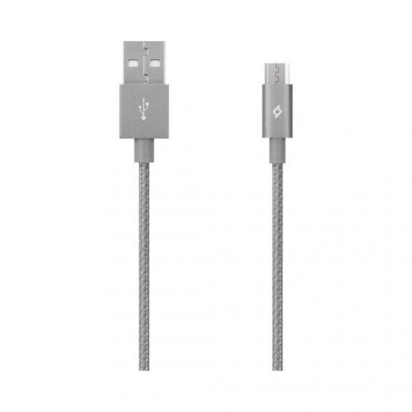 T.TEC 2DK11UG MICRO USB-USB 120 CM GRİ KABLO