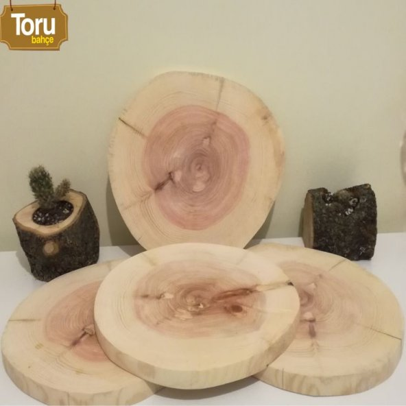 Sunum tahtası sunum tabağı vernikli 25-30 cm çaplarında