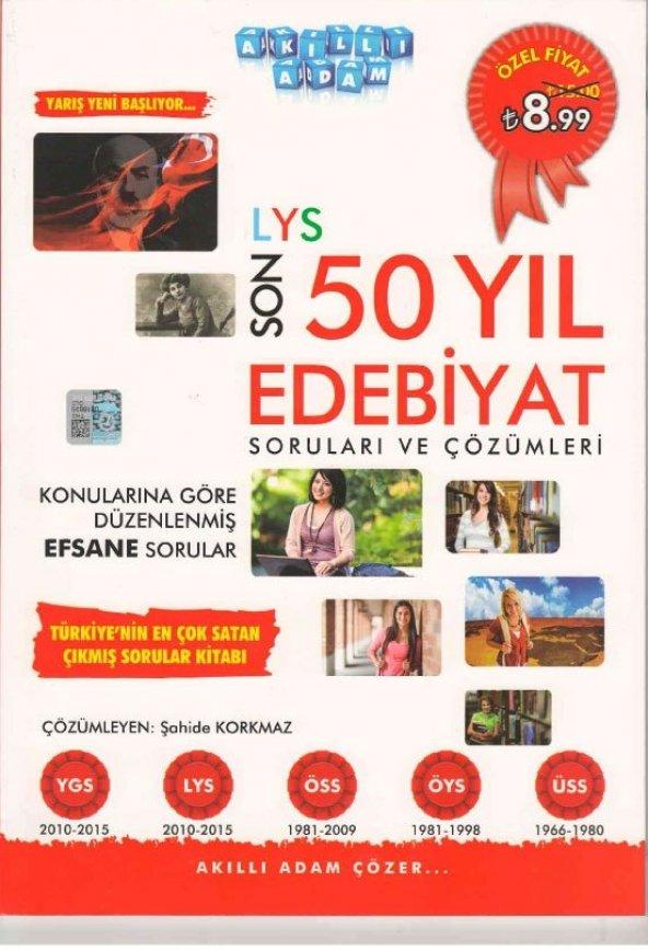 LYS Son 50 Yıl Edebiyat Soruları ve Çözümleri Kolektif