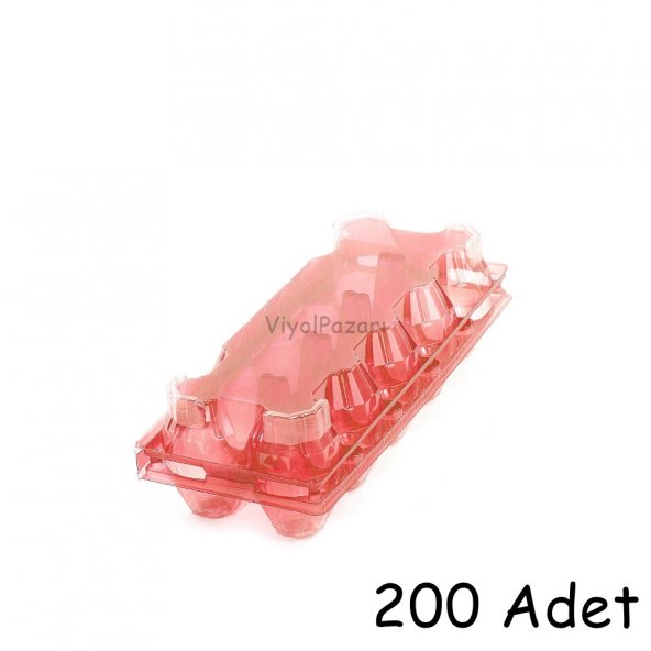10'lu Plastik Pembe Yumurta Viyolü (200 Adet)
