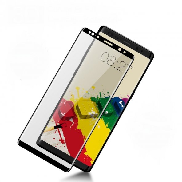 Samsung Galaxy S6 Edge Plus Curved Ekran Koruyucu Siyah