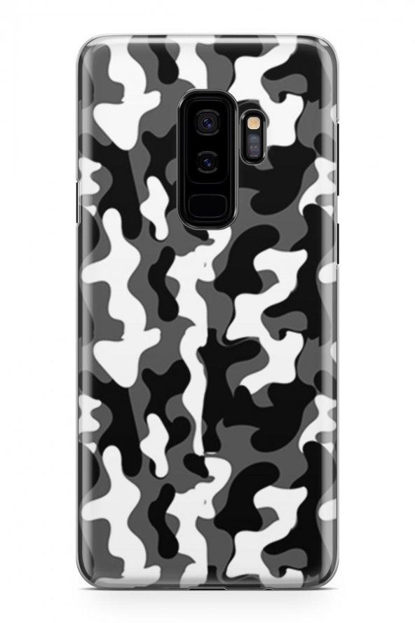Samsung Galaxy S9 Plus Kılıf Kamuflaj Desenli Amelia