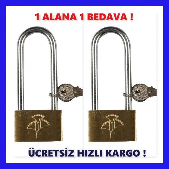 UZUN ASMA KİLİT PİRİNÇ 40 MM BUZDOLABI KİLİDİ -2 ADET-