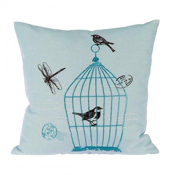 Home Sweet Home Birdcage Kırlent