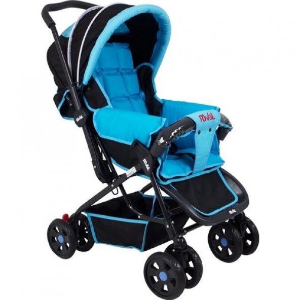 Rival Lucido Çift Yönlü Bebek Arabası Siyah Mavi