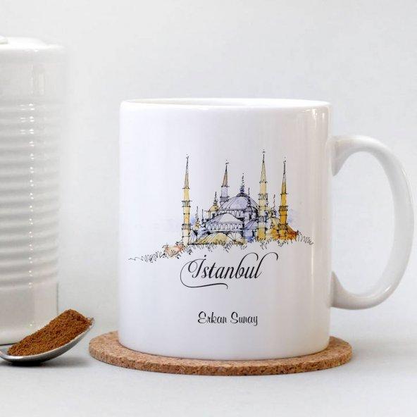 İstanbul Beyaz Kupa Bardak - 004