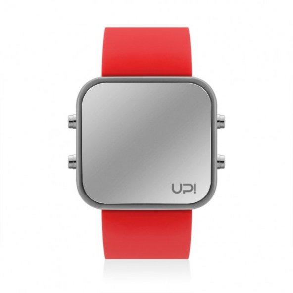 UPWATCH LED GREY&RED