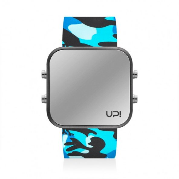 UPWATCH LED MATTE BLACK&BLUE CAMOUFLAGE