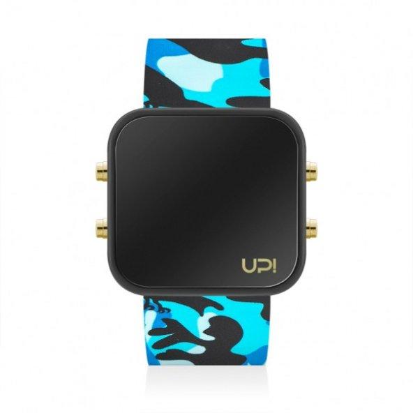 UPWATCH LED GBLACK&BLUE CAMOUFLAGE