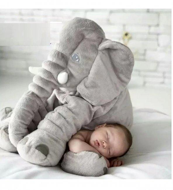 Uyku Arkadaşım Fil 65cm - Peluş Toy Elephant - Büyük Yumuşak FİL