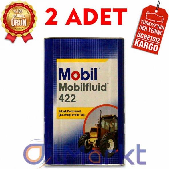 Mobil Mobilfluid 422 16 Kg Çok Amaçlı Traktör Yağı (2 Adet)